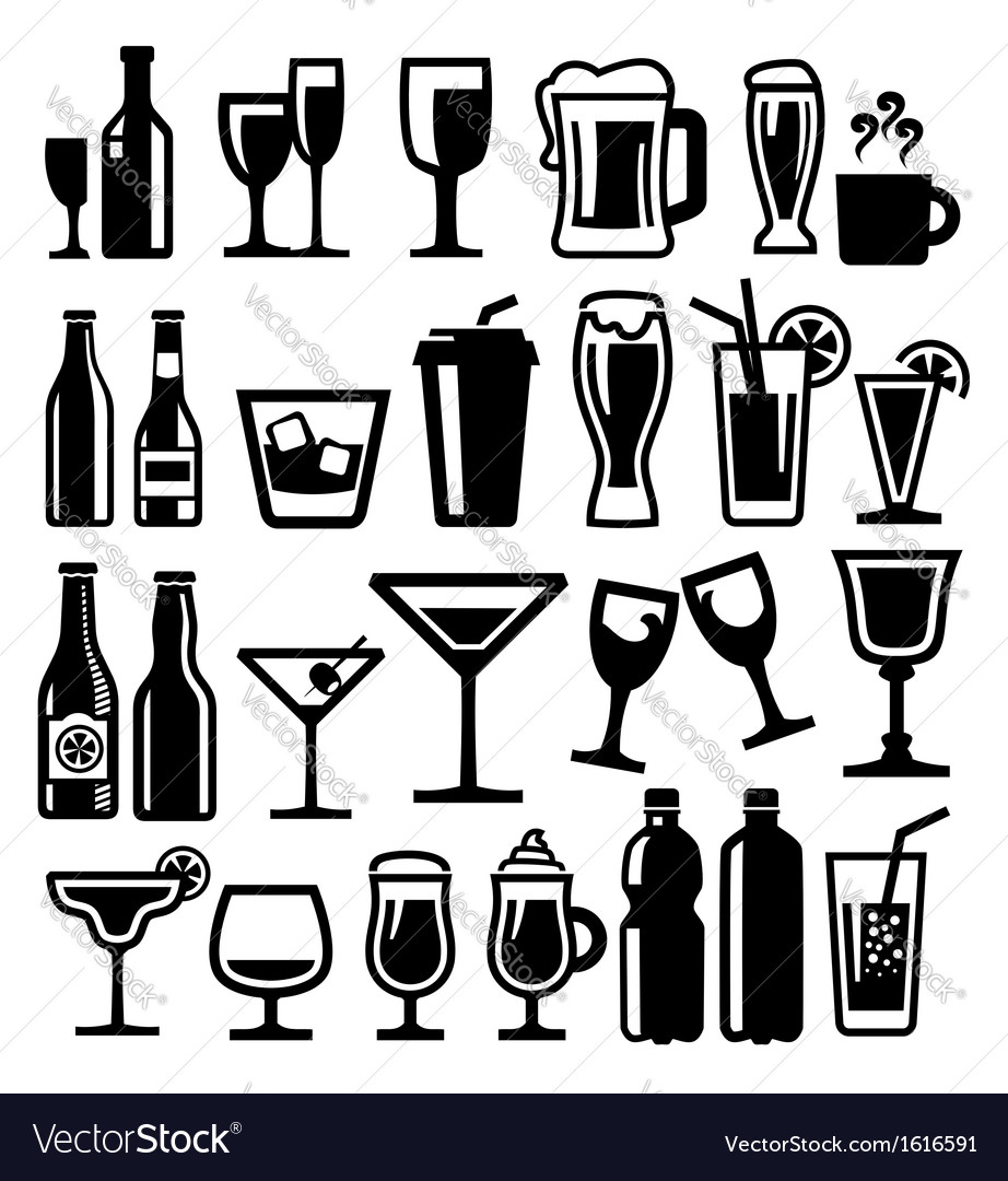Beverages icon vector image
