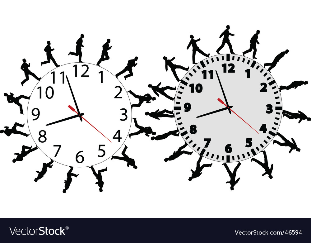 Business men in a hurry vector image