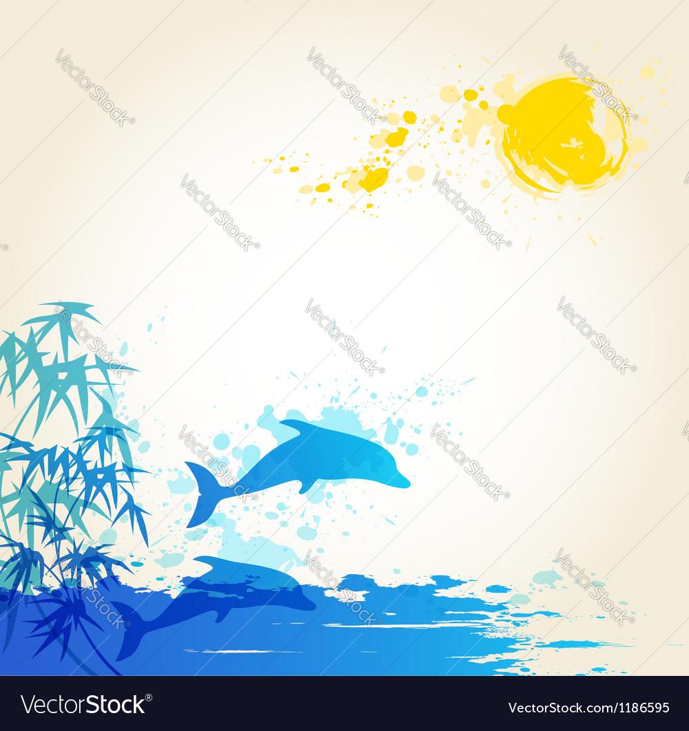 Sea blue vector image