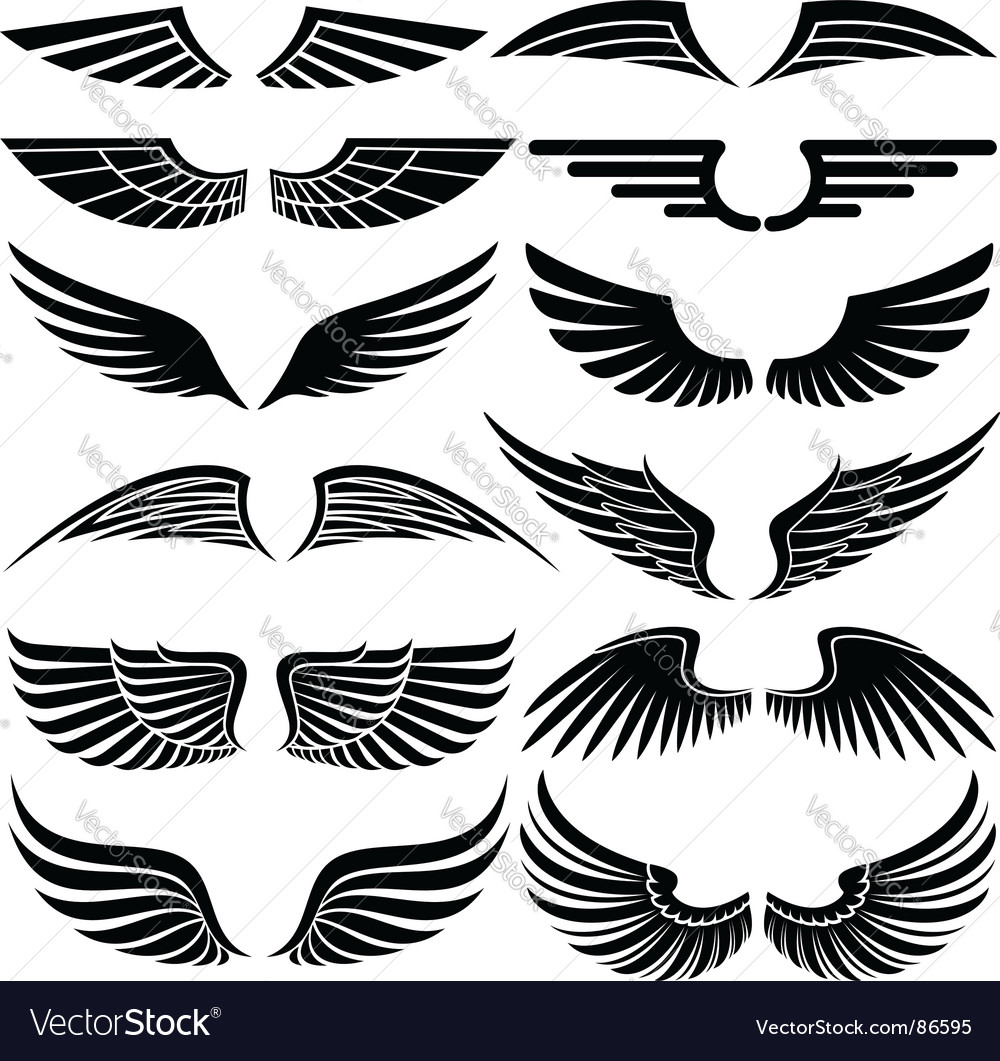 wings royalty free vector image vectorstock