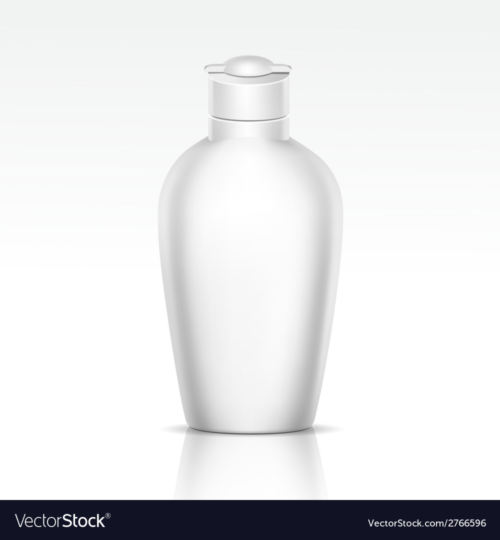 Bottle for Shampoo Shower Gel Liquid Soap vector image