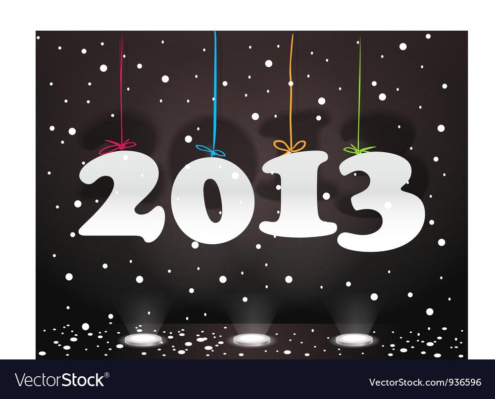Happy New 2013 vector image