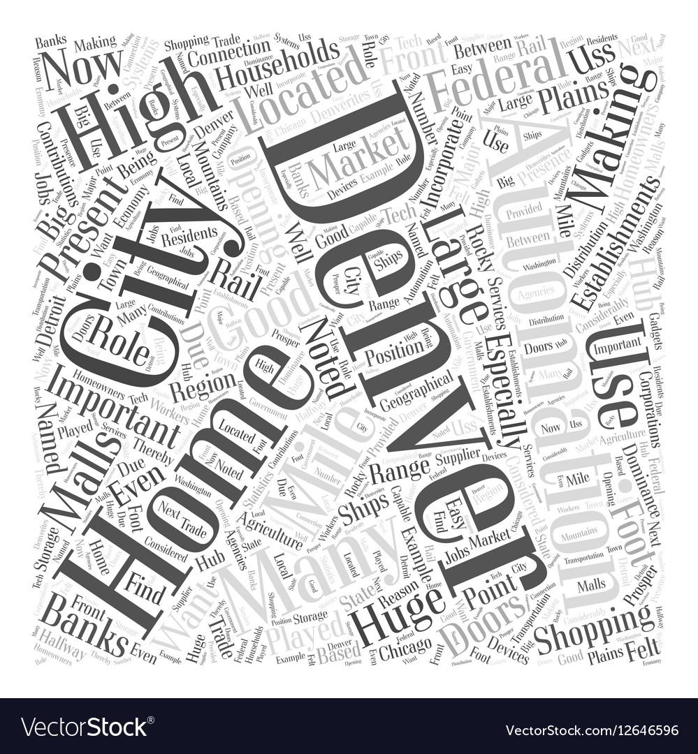 Home automation denver Word Cloud Concept Vector Image