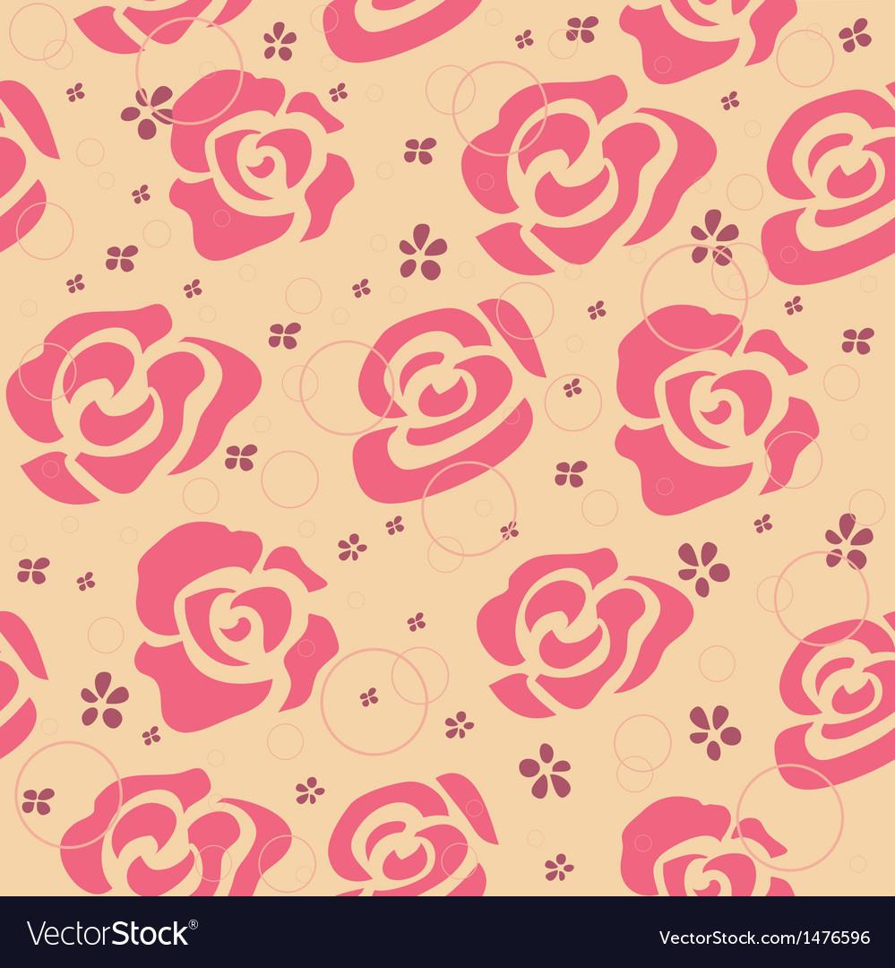 Vintage Roses Pattern vector image