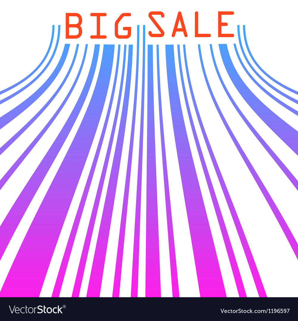 Big sale barcode banner EPS 8 vector image