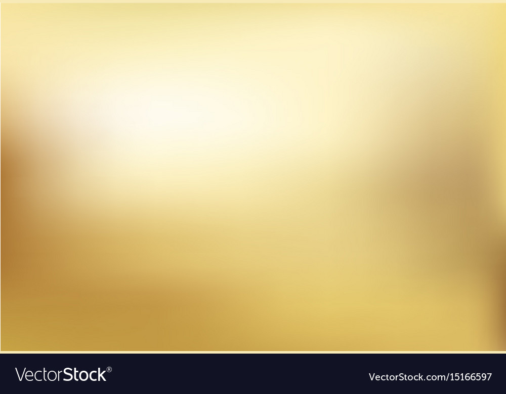 Gold blurred gradient style background abstract vector image