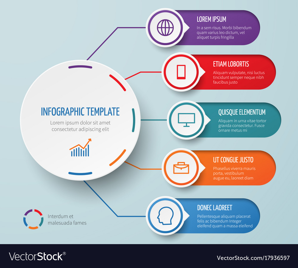 Infographic for business presentation with vector image
