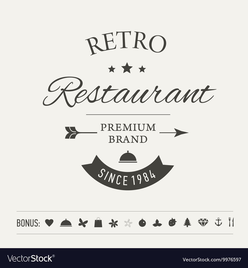 Retro Vintage Insignia or Logotype vector image