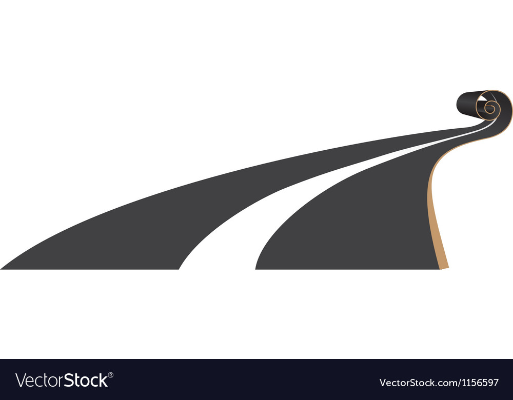 Road scroll vector image