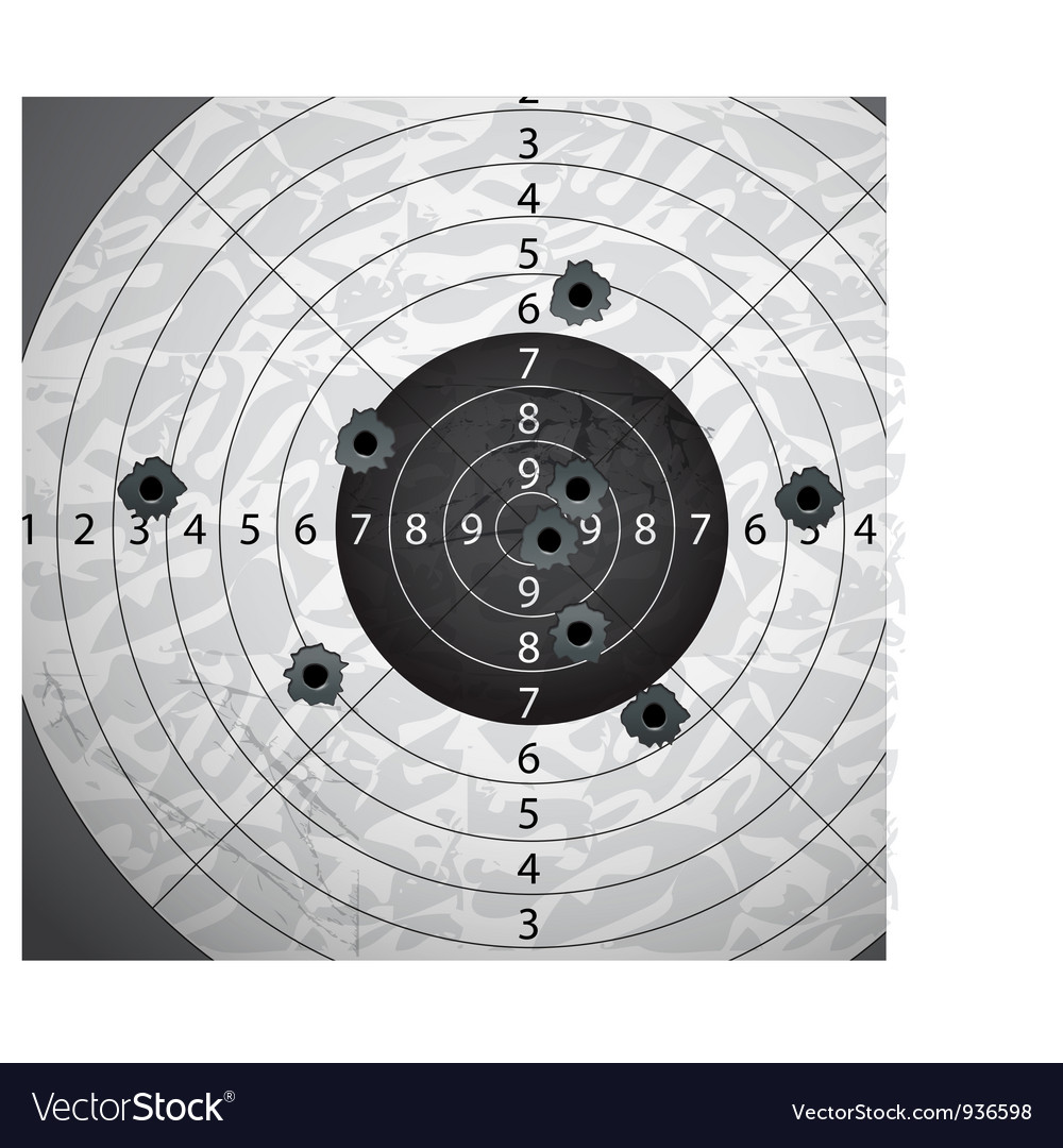 Aim vector image