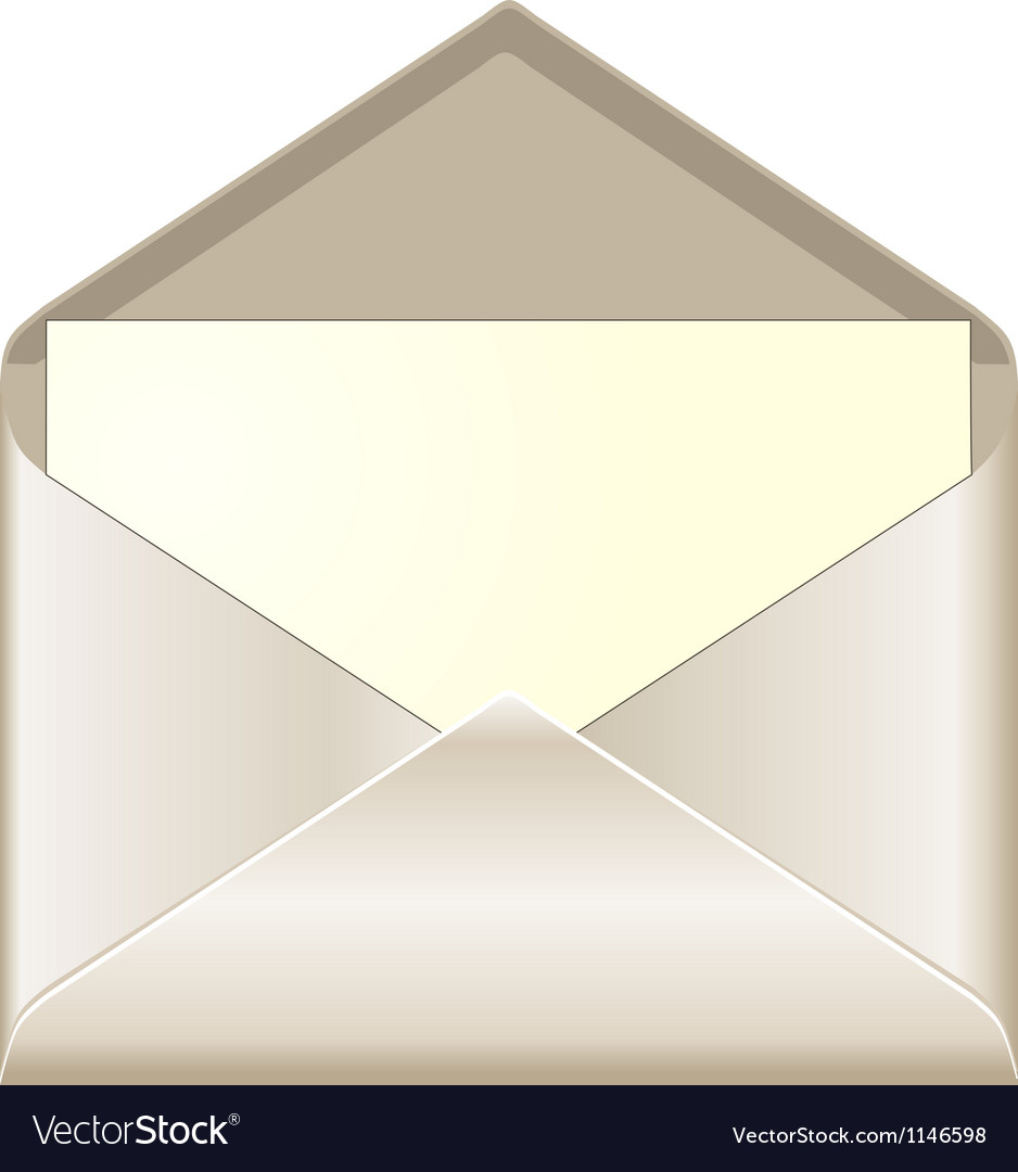 Open envelope with card Royalty Free Vector Image