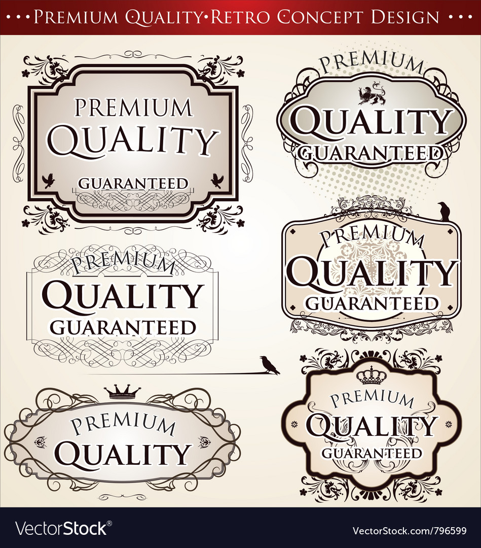 Premium quality retro concept design vector image