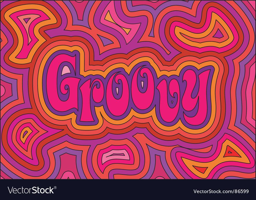 Groovy vector image