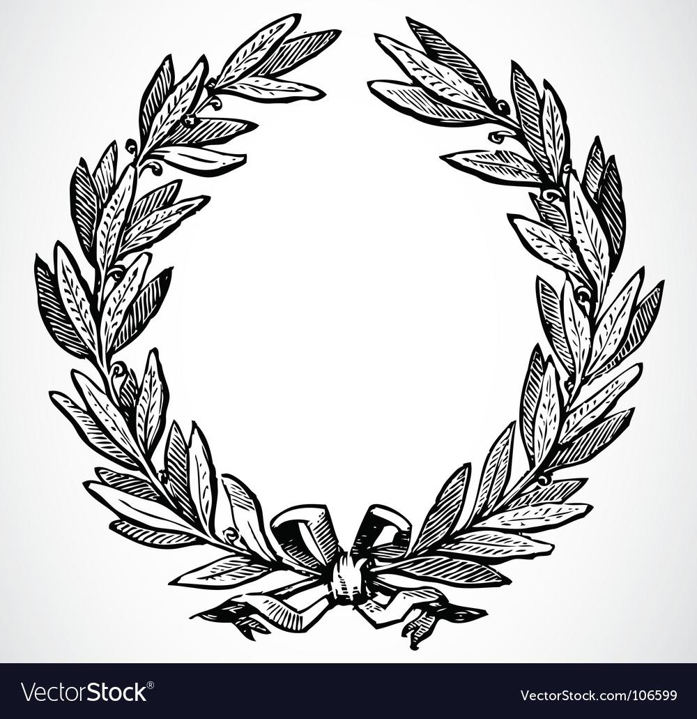 Olive leaf wreath vector image