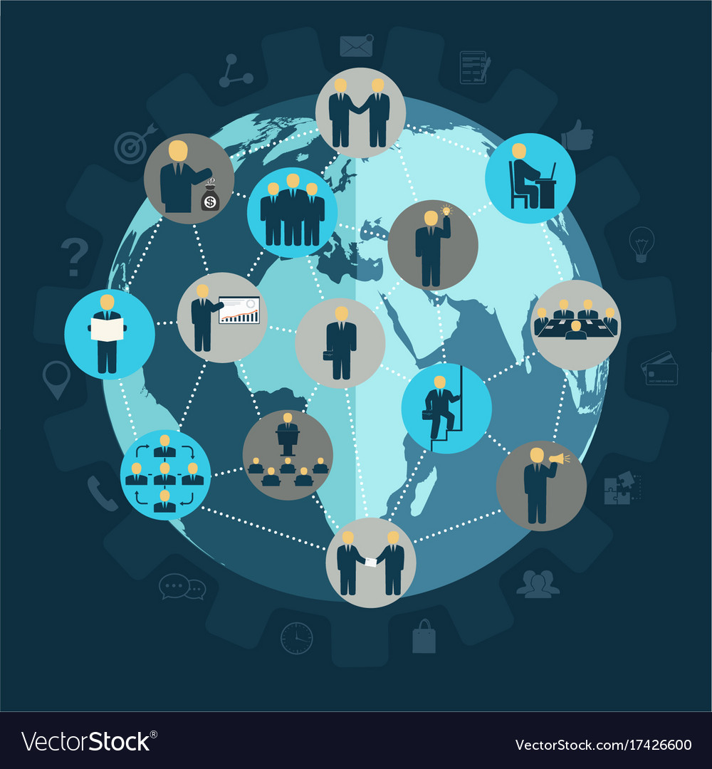 Social networking business people workforce vector image