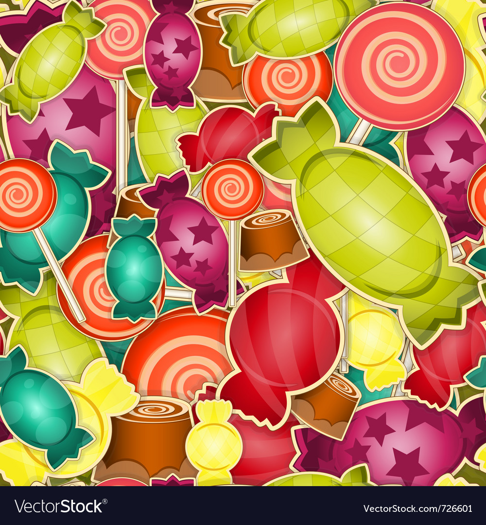 Sweet candy vector image
