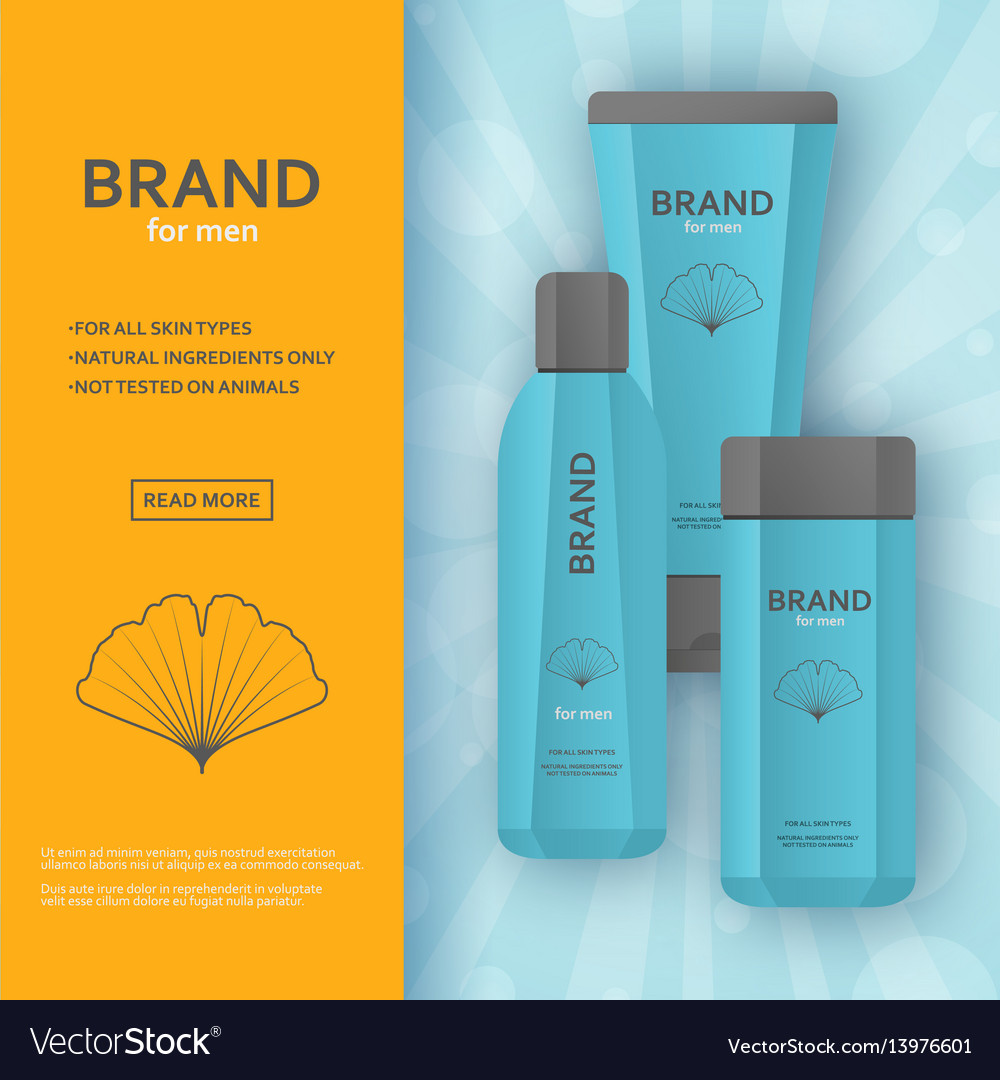 Cream and lotion bottles template vector image