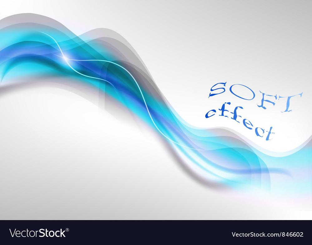 Wave neon light white curve blue soft vector image