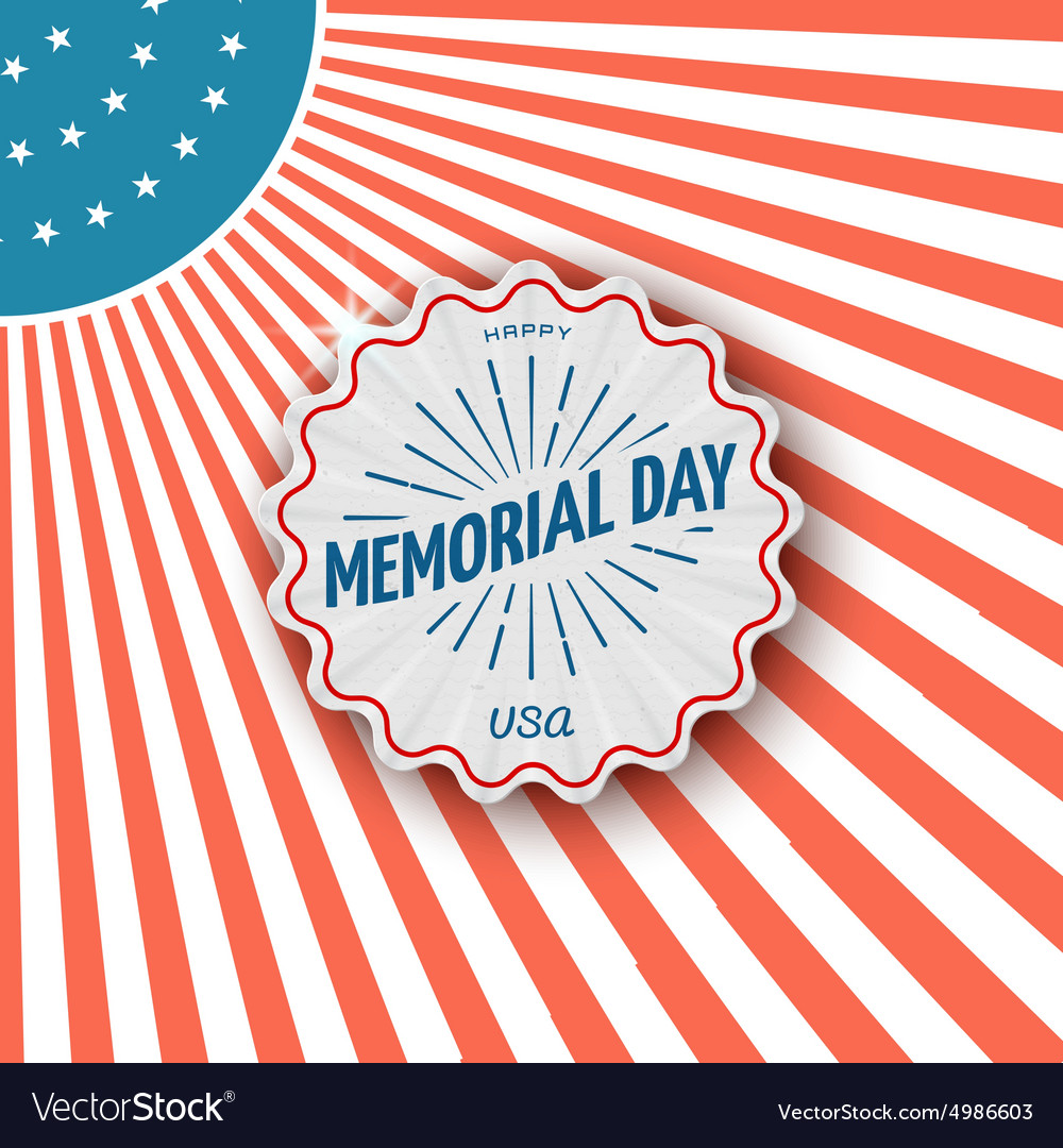 Set of memorial day labels stock vector. Illustration of ...