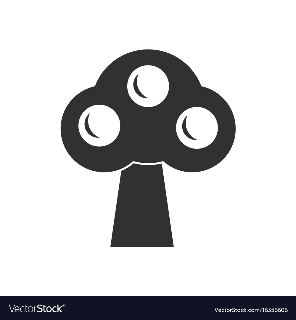 Black icon on white background ecological tree