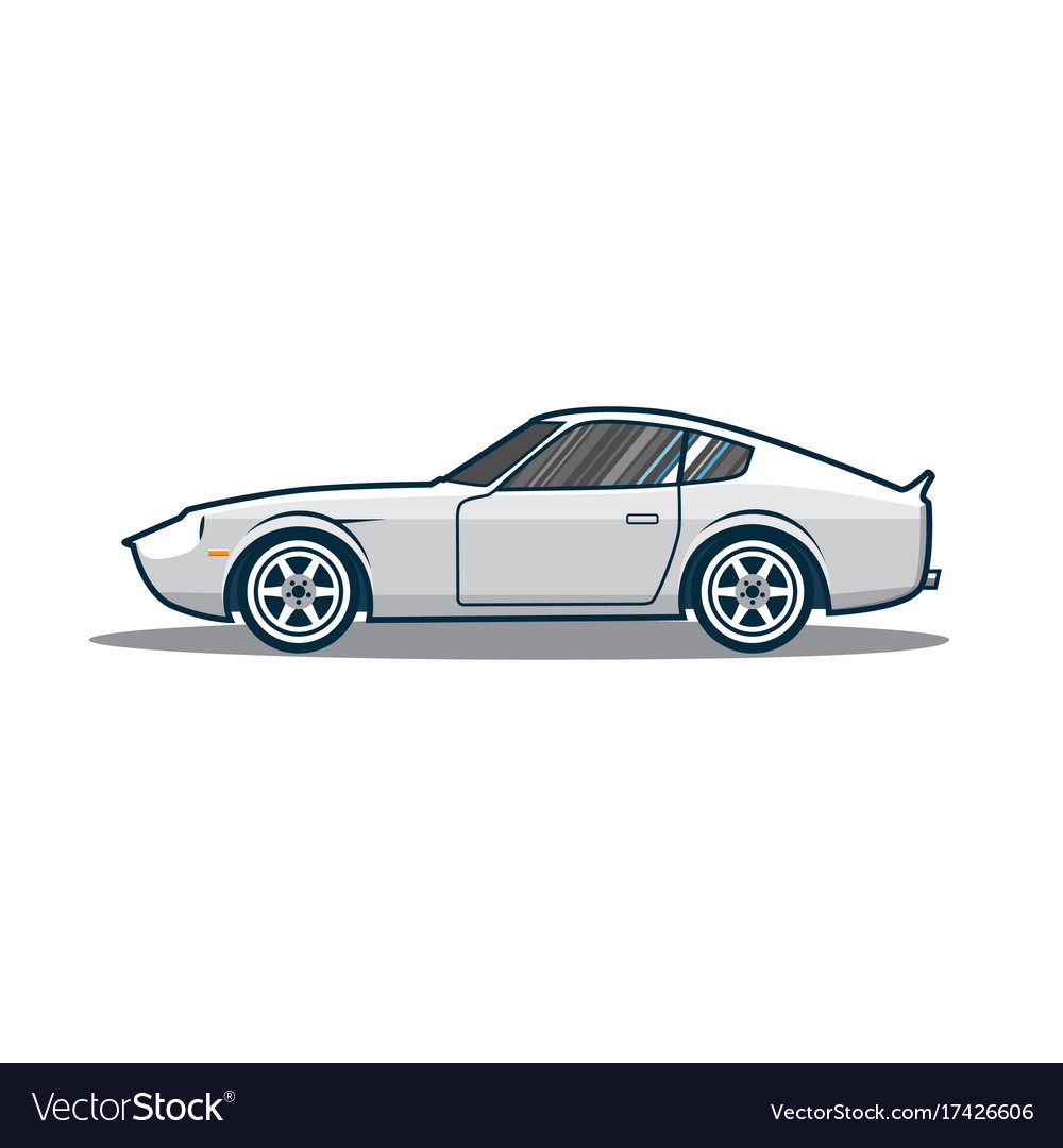 Old japan sport car Royalty Free Vector Image - VectorStock