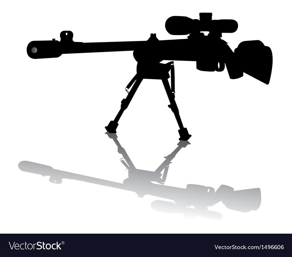 Sniper Rifle vector image