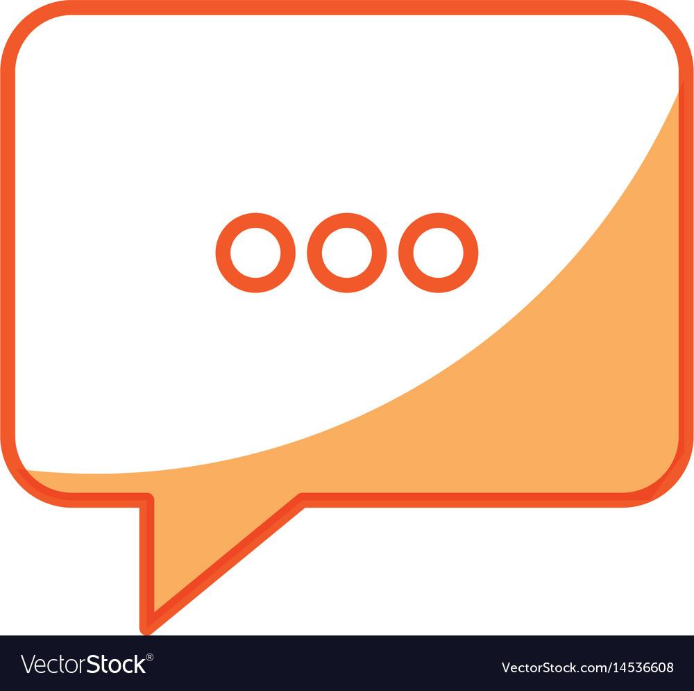 Bubble speech chat message image vector image