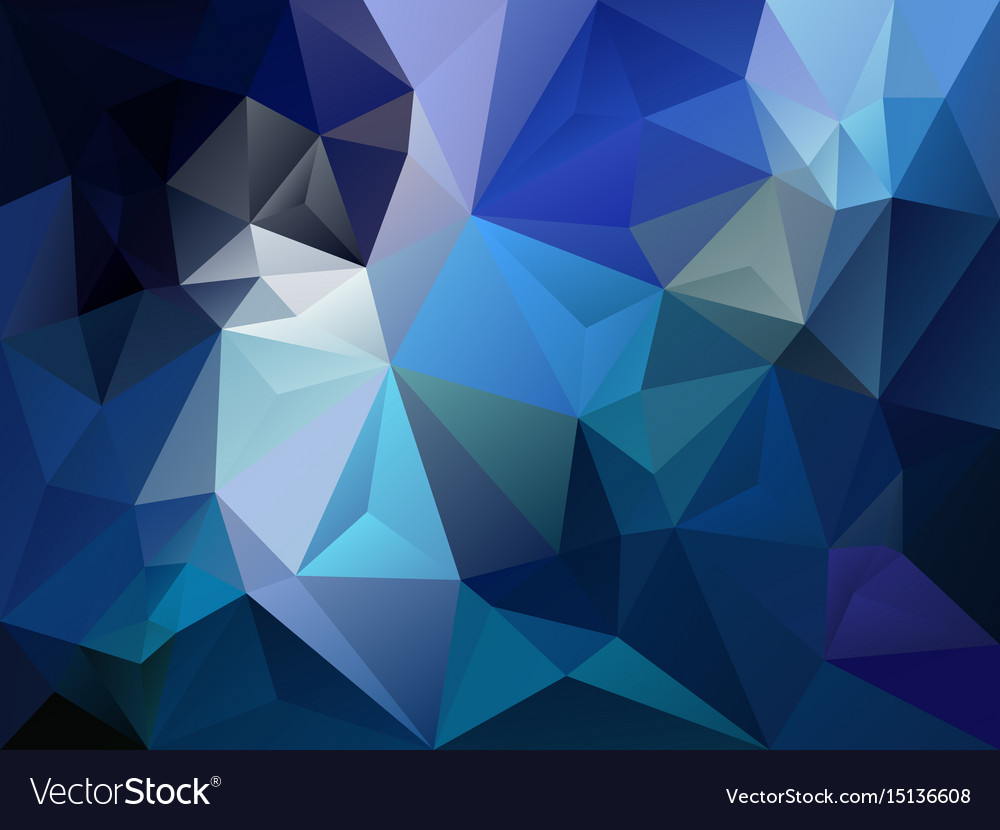 Polygon background dark sky blue color vector image