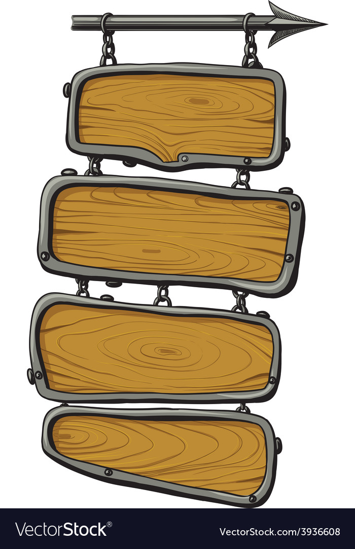 Wooden boards color vector image