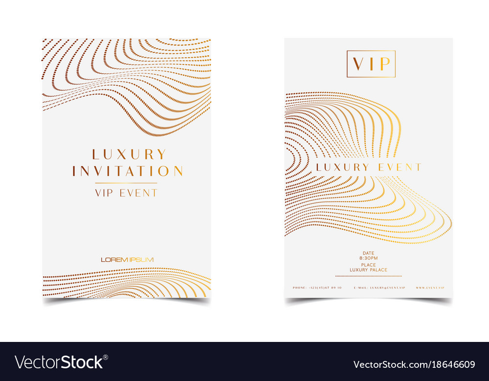 White gold luxury invitation for vip event vector image white gold luxury invitation for vip event vector image stopboris Image collections