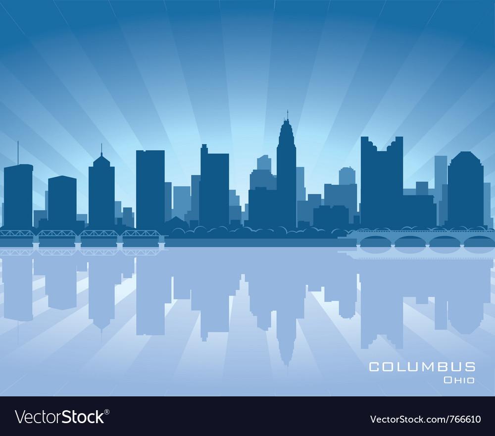 Columbus ohio skyline vector image