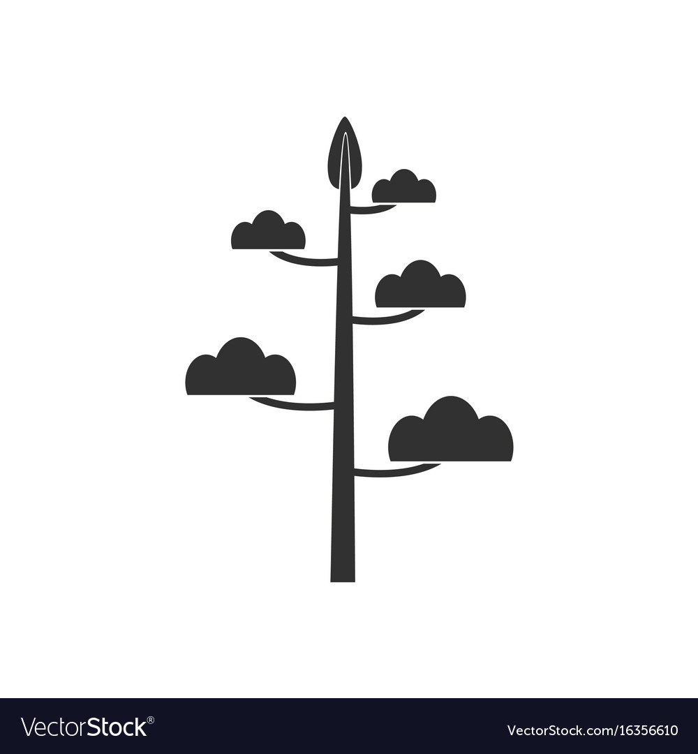 Black icon on white background simple tree