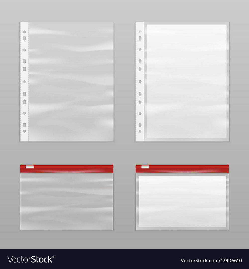Full paper and empty plastic bags icon set vector image