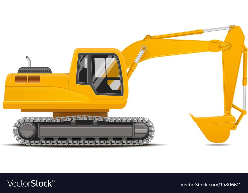 Excavator realistic vector image