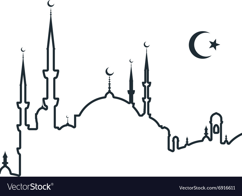 Silhouette of arabic city with mosque symbols of silhouette of arabic city with mosque symbols of vector image biocorpaavc
