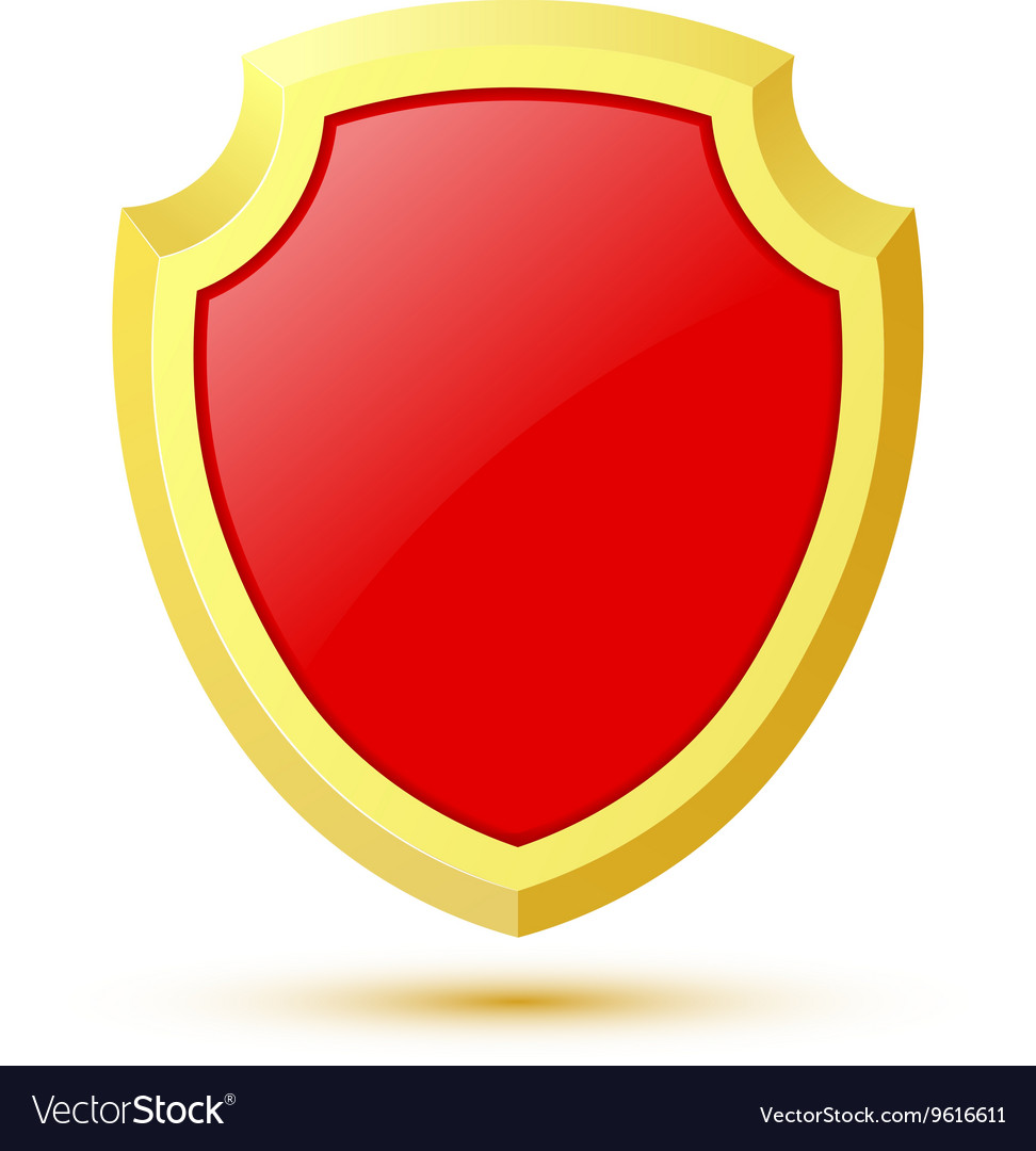 Single isolated on white background red shield vector image