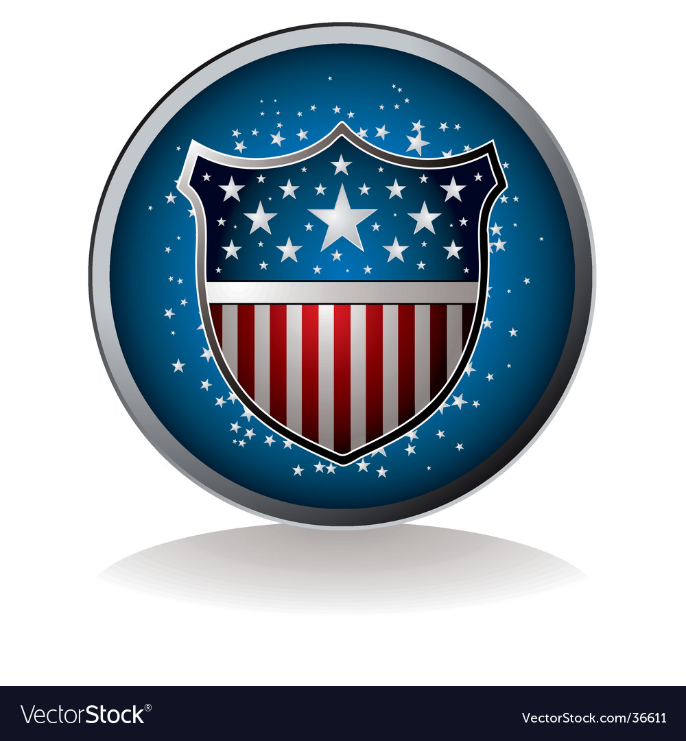 Us badge vector image