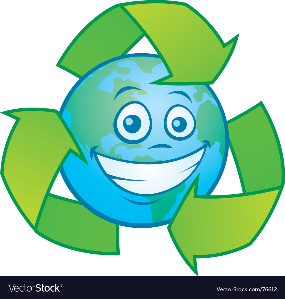 Earth cartoon with recycle symbol royalty free vector image earth cartoon with recycle symbol vector image biocorpaavc Gallery