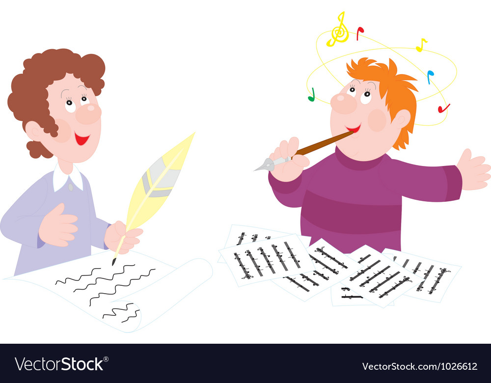 Poet and composer vector image