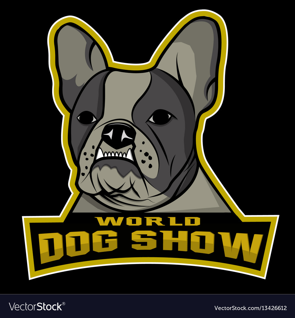 World dog show logo vector image