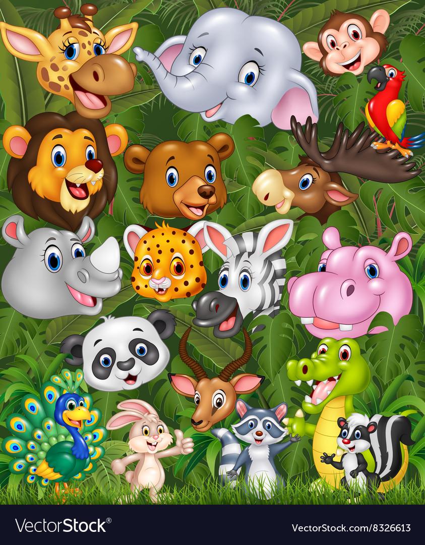 Cartoon safari background