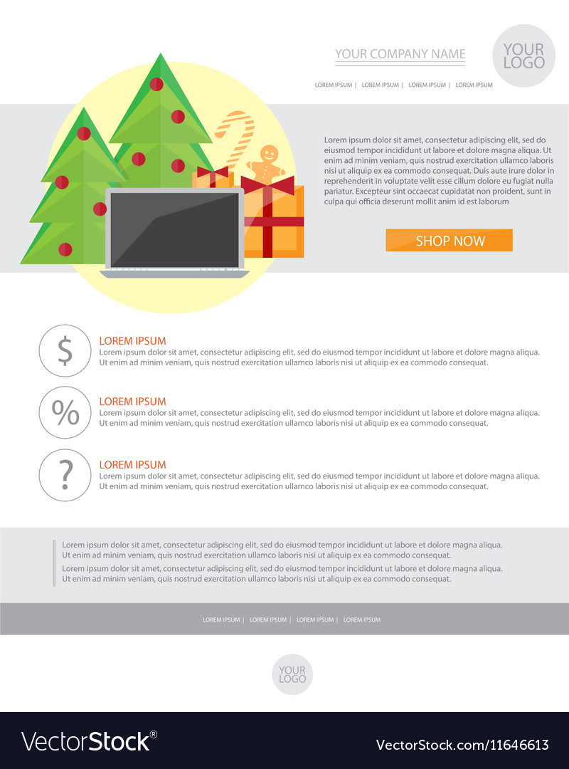 Happy new year holiday greeting email template in vector image m4hsunfo