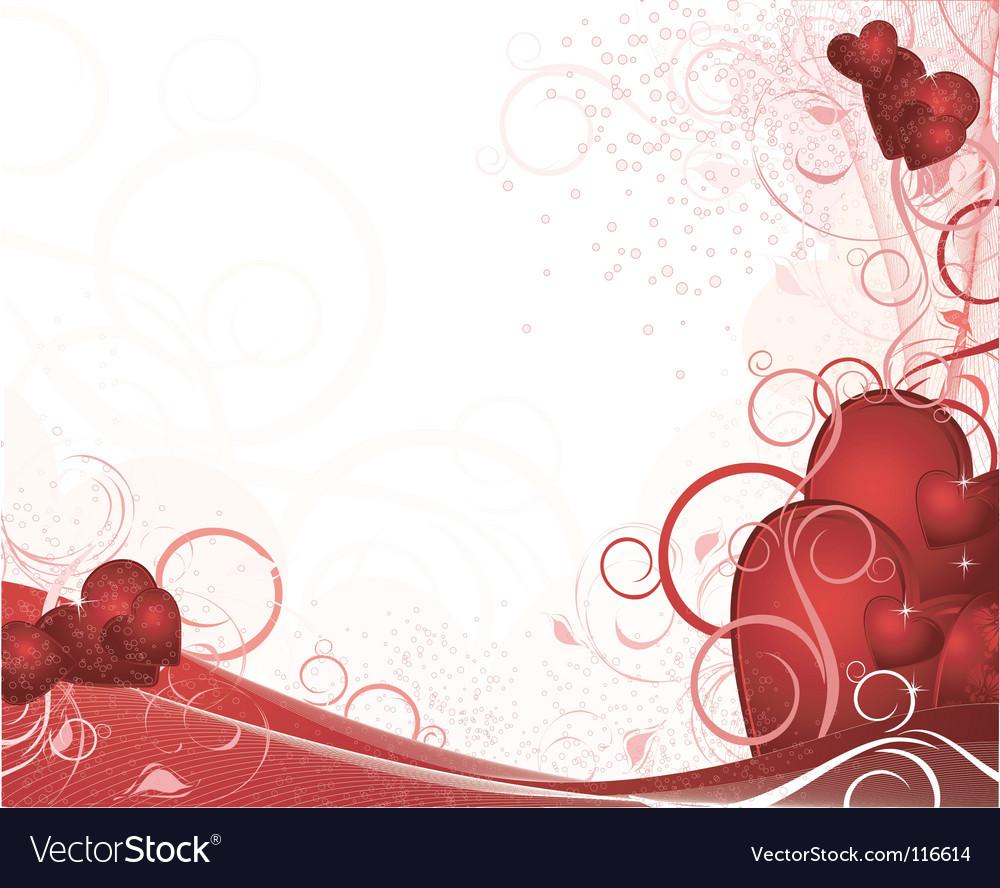 White Valentines Background Vector Image