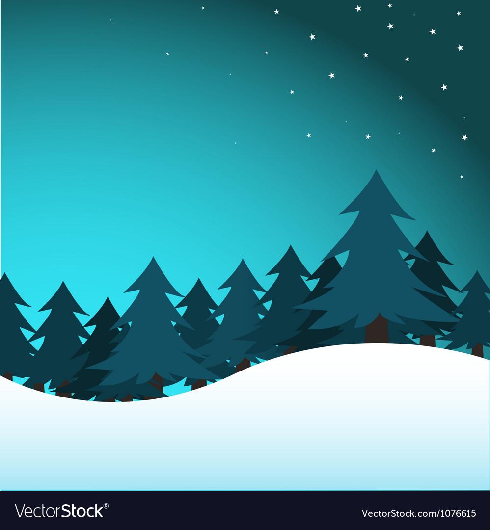 Pine trees vector image