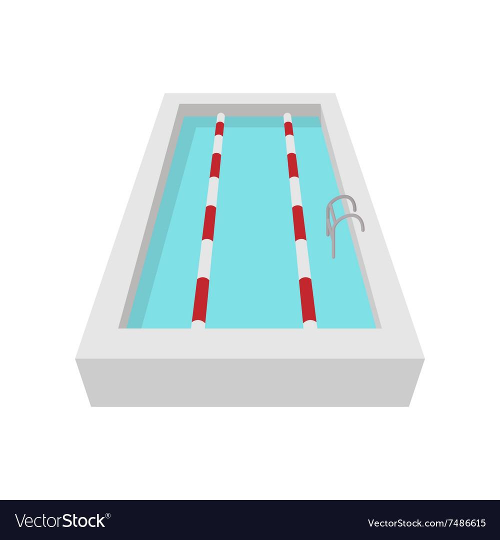 Sport swimming pool cartoon icon vector image