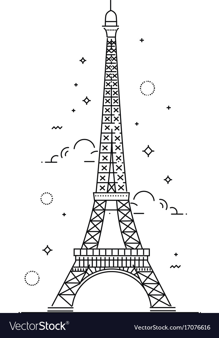 Eiffel tower paris icon design vector image