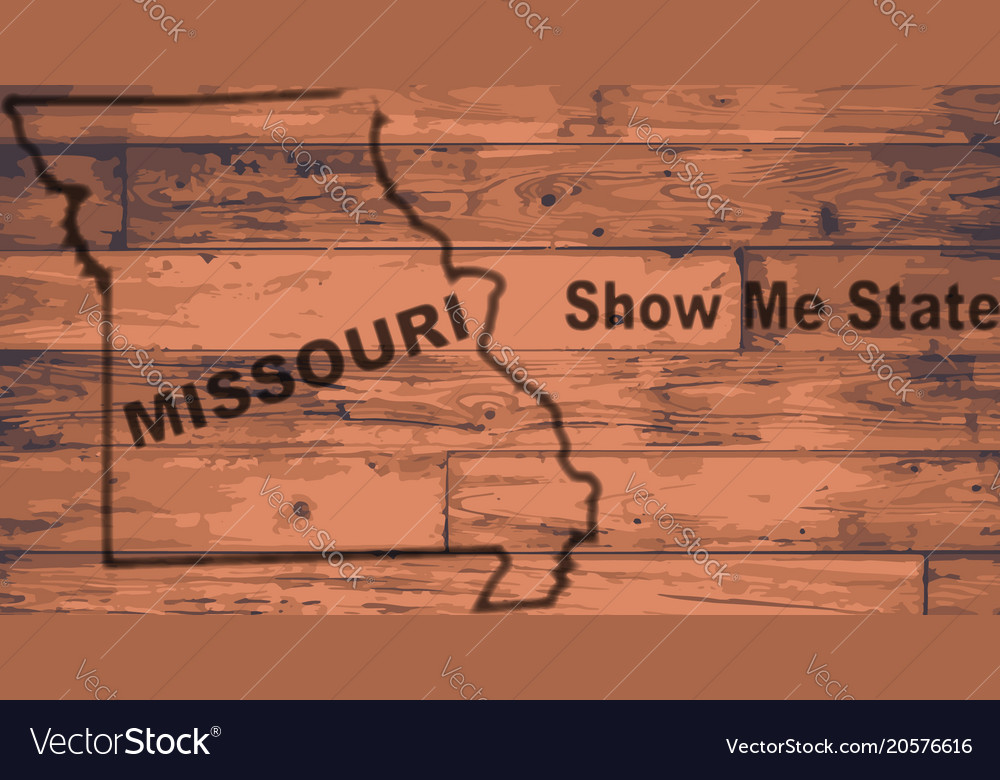 Missouri map brand vector image
