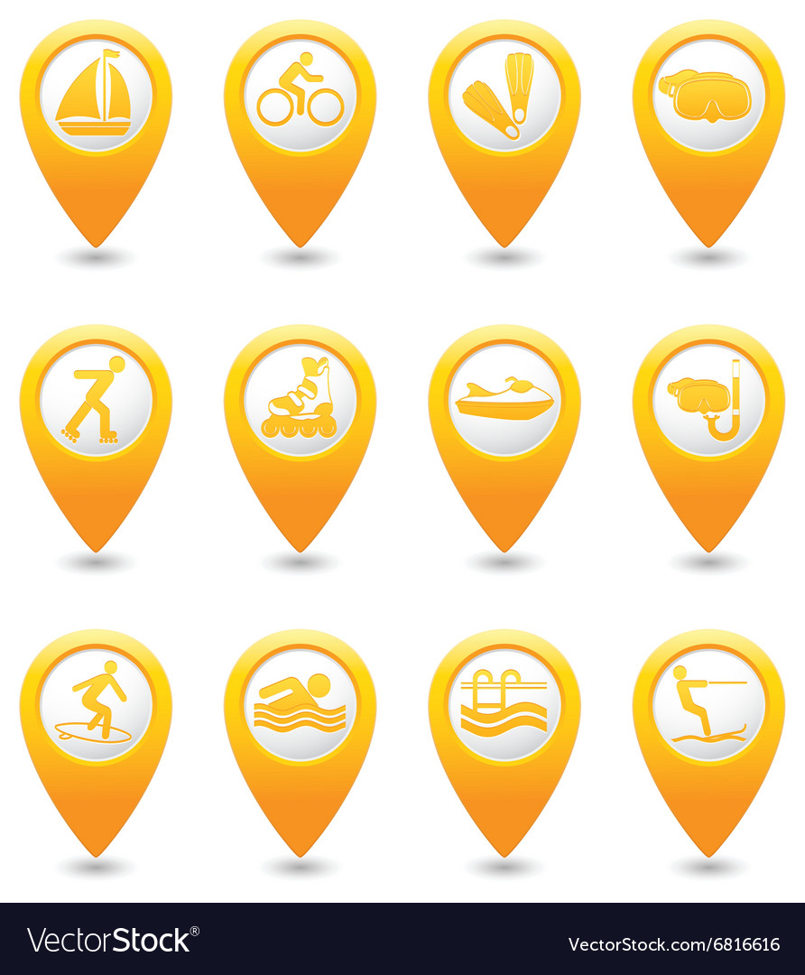 Summer Sport And Vacation Icons vector image
