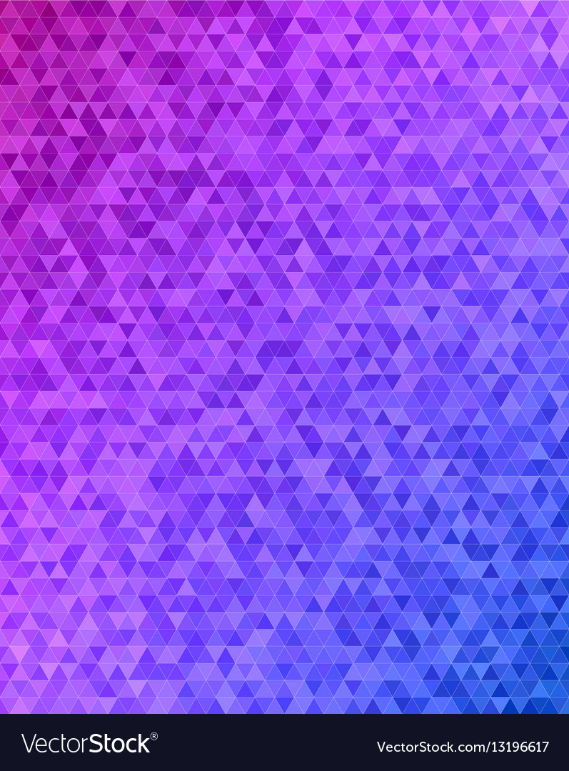 Abstract triangle tile mosaic background design vector image