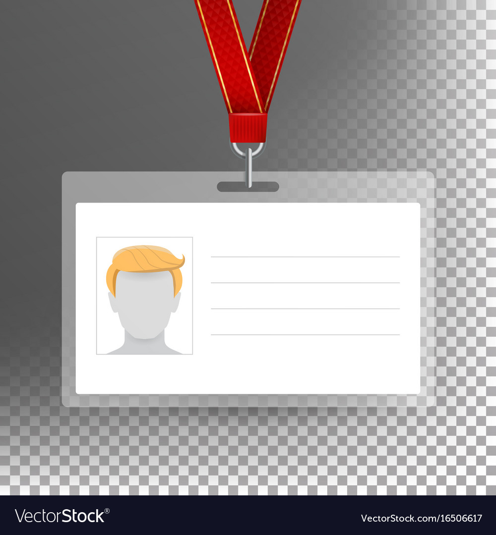 Employee card blank identification card vector image